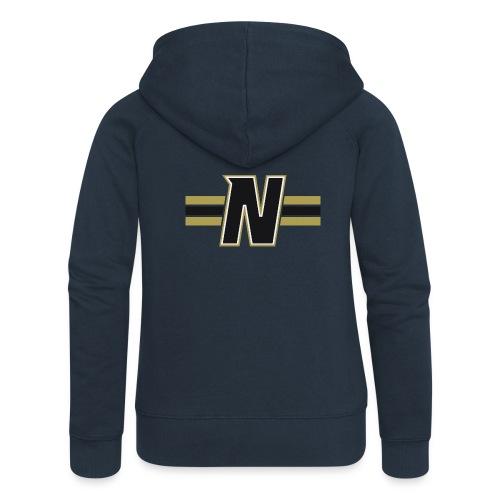 Nordic Steel Black N with stripes - Women's Premium Hooded Jacket