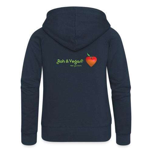 Roh & Vegan rotes Apfelherz (Rohkost) - Frauen Premium Kapuzenjacke