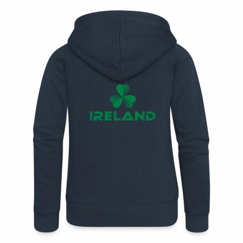 Supporting Ireland Shamrock - Women's Premium Hooded Jacket