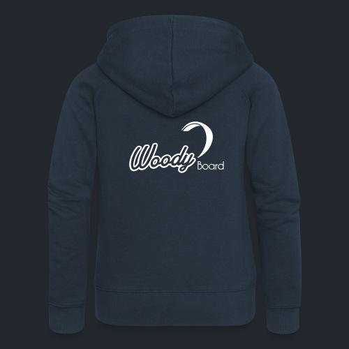 Logo Woodyboard Blanc - Veste à capuche Premium Femme