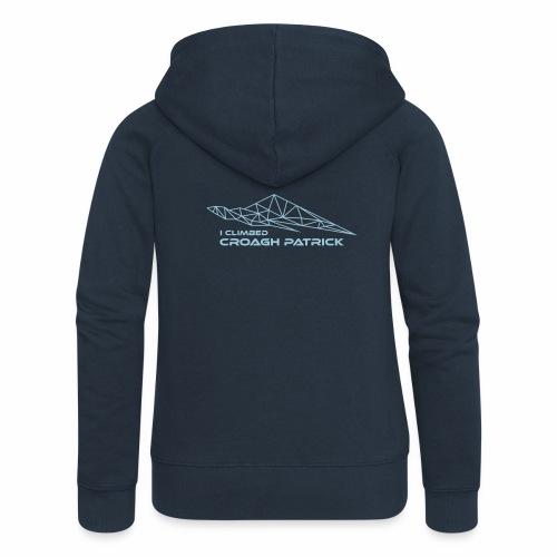 I climbed Croagh Patrick Geometric Design - Women's Premium Hooded Jacket