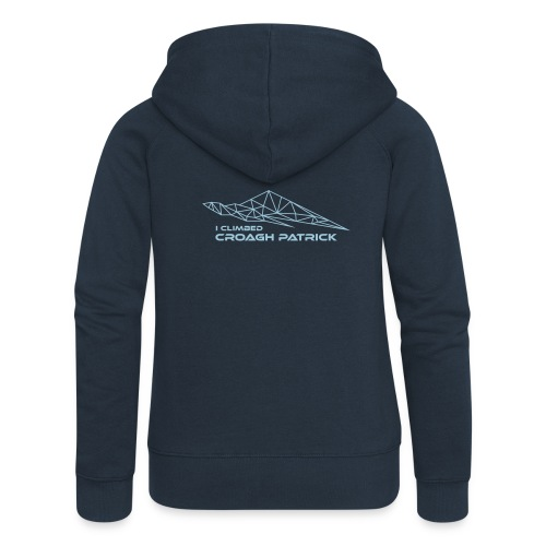 I climbed Croagh Patrick Geometric Design - Women's Premium Hooded Jacket