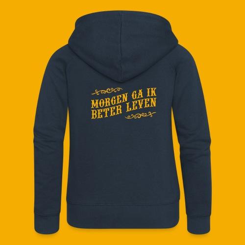 tshirt yllw 01 - Vrouwenjack met capuchon Premium