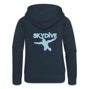 Skydive Silhouette - Frauen Premium Kapuzenjacke
