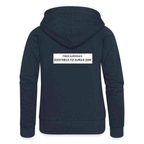 firma kurierska tyl - Rozpinana bluza damska z kapturem Premium