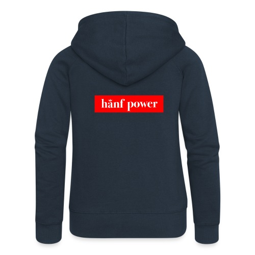 Hanf Power RED - Frauen Premium Kapuzenjacke