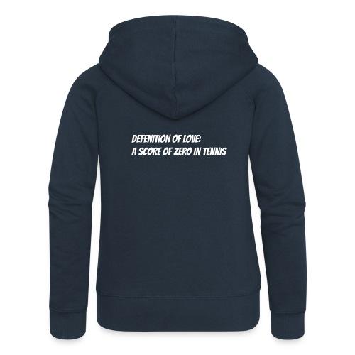 Tennis Love sweater woman - Vrouwenjack met capuchon Premium