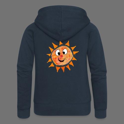 Słońce - Rozpinana bluza damska z kapturem Premium