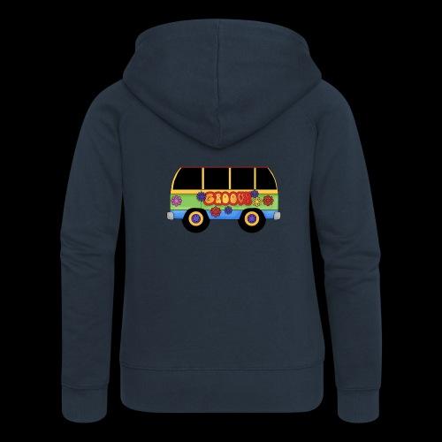 GROOVY BUS - Women's Premium Hooded Jacket