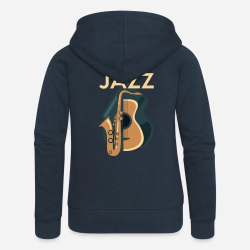 Jazz Gitarre mit Saxophon - Frauen Premium Kapuzenjacke