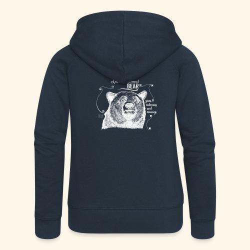 Spirit Animal Bär weiß - Frauen Premium Kapuzenjacke