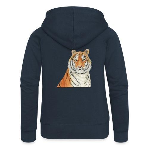 Tigre,Tiger,Wildlife,Natura,Felino - Felpa con zip premium da donna