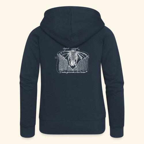 Spirit Animal Fledermaus weiß - Frauen Premium Kapuzenjacke