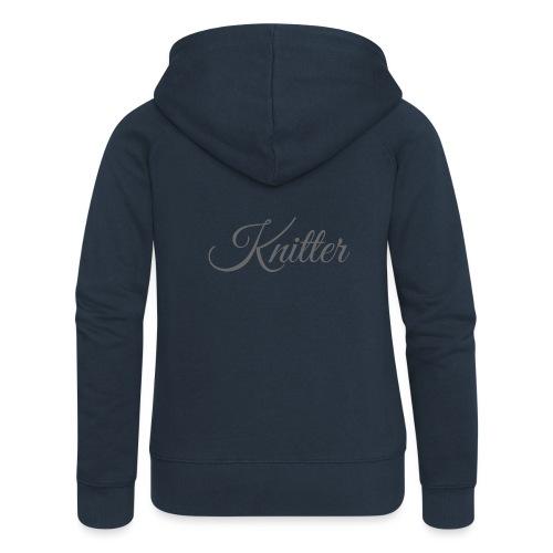 Knitter, dark gray - Women's Premium Hooded Jacket