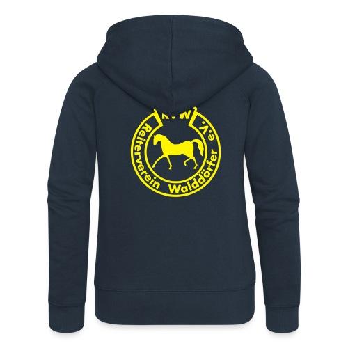 RVW Logo gelb - Frauen Premium Kapuzenjacke