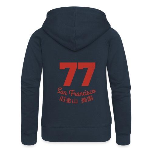 77 san francisco usa - Frauen Premium Kapuzenjacke