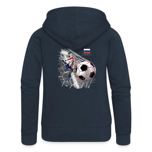 GP22F-04 RUSSIAN FOOTBALL TEXTILES AND GIFTS - Naisten Girlie svetaritakki premium