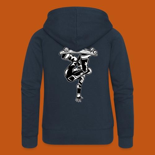 Skater / Skateboarder 03_schwarz weiß - Frauen Premium Kapuzenjacke