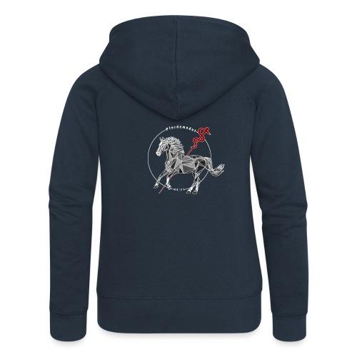 Pferdemodul grey - Frauen Premium Kapuzenjacke