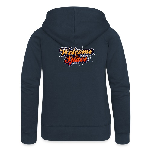 Colorful Welcome To Space Logo - Premium hettejakke for kvinner