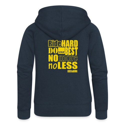 ridehard yellow - Women's Premium Hooded Jacket
