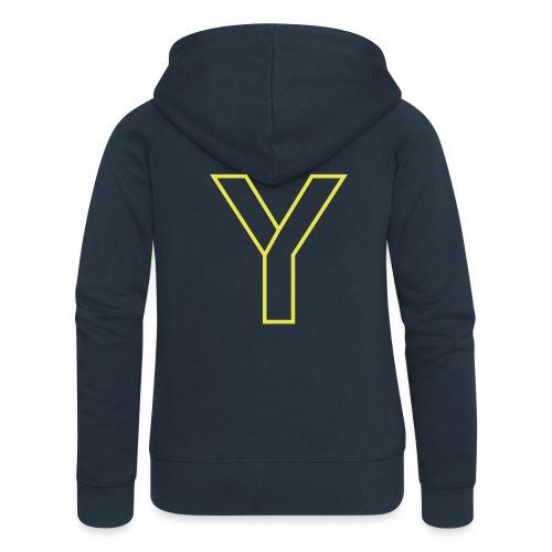 ChangeMy.Company Y Yellow - Frauen Premium Kapuzenjacke