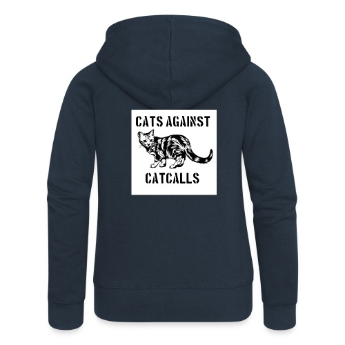 Cats against catcalls - Women's Premium Hooded Jacket