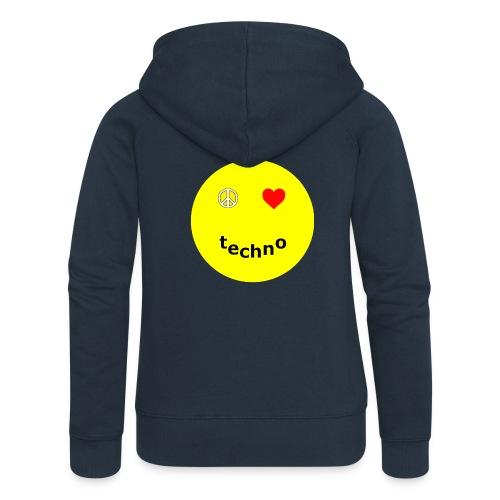 camiseta paz amor techno - Chaqueta con capucha premium mujer