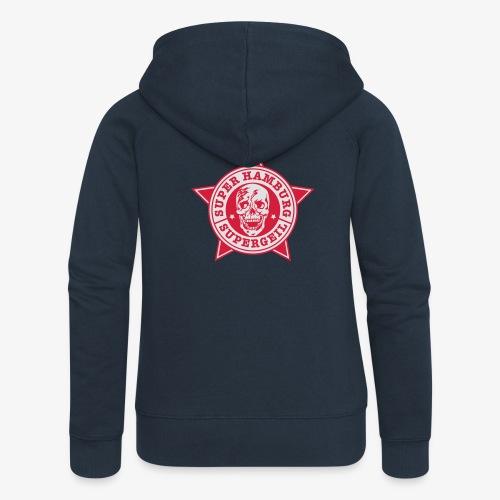Hamburg Supergeil Totenkopf T-Shirt - Frauen Premium Kapuzenjacke