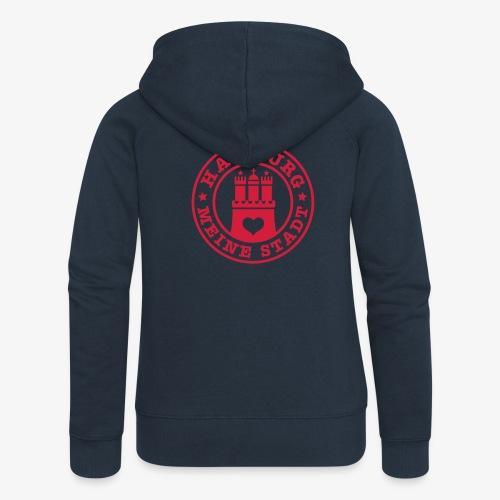 HAMBURG MEINE STADT Wappen 1c - Frauen Premium Kapuzenjacke