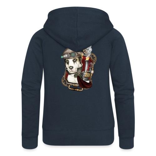 Steampunk Dog #1 - Felpa con zip premium da donna