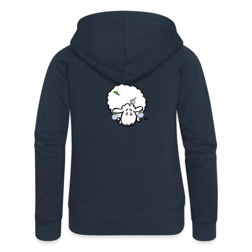 Owca choinkowa - Rozpinana bluza damska z kapturem Premium