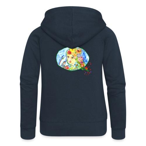 BlumenMädchen - Frauen Premium Kapuzenjacke