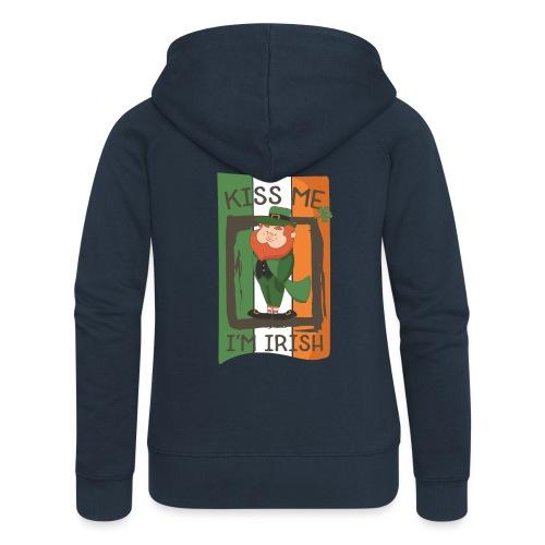 St. Patrick's Day Leprechaun - I'm Irish - Kiss Me - Women's Premium Hooded Jacket