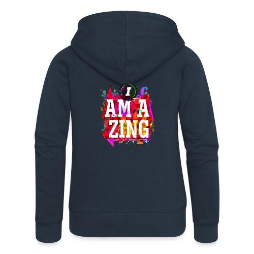 I am Amazing - Women's Premium Hooded Jacket