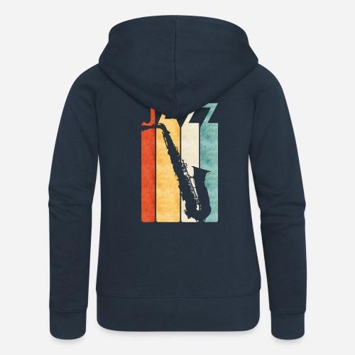 Jazz Saxophon Retro - Frauen Premium Kapuzenjacke