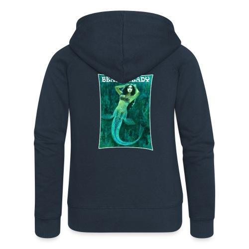 Vintage Pin-up Beach Ready Mermaid - Women's Premium Hooded Jacket