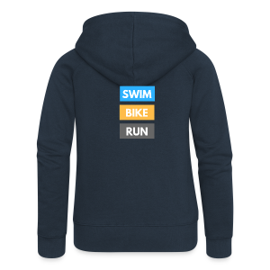 Triathlon Apparel: Swim Bike Run - Women's Premium Hooded Jacket