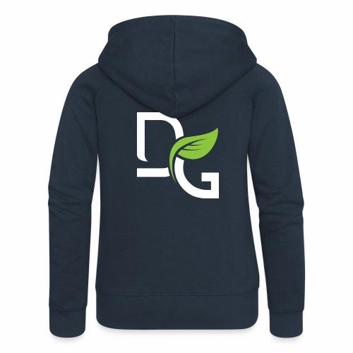 DrGreen Logo Symbol weiss grün - Frauen Premium Kapuzenjacke
