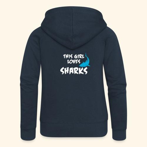 Hai Frauen T-Shirt Englisch - Frauen Premium Kapuzenjacke
