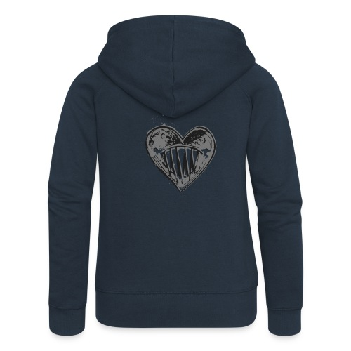 Corazón Negro - Chaqueta con capucha premium mujer