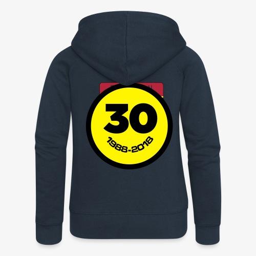 30 Jaar Belgian New Beat Smiley - Vrouwenjack met capuchon Premium