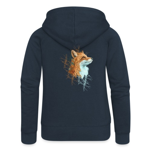 Happy the Fox - Frauen Premium Kapuzenjacke