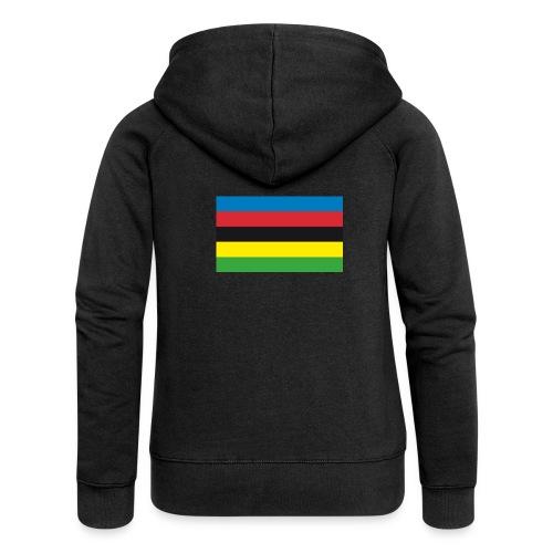 Cycling_World_Champion_Rainbow_Stripes-png - Vrouwenjack met capuchon Premium