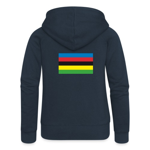 Cycling_World_Champion_Rainbow_Stripes-png - Vrouwenjack met capuchon Premium