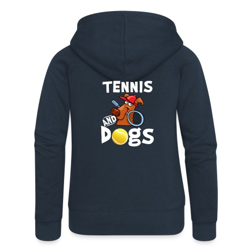 Tennis And Dogs Funny Sports Pets Animals Love - Frauen Premium Kapuzenjacke