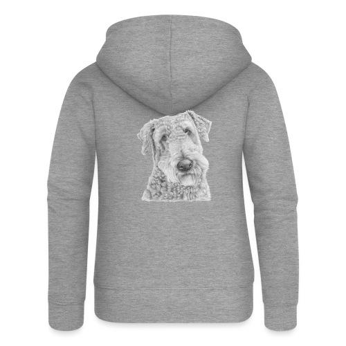 airedale terrier - Dame Premium hættejakke