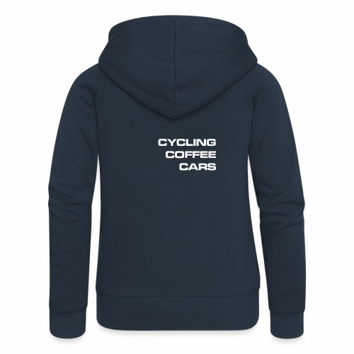 Cycling Cars & Coffee - Women's Premium Hooded Jacket