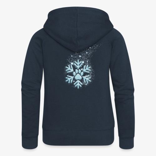 dog paw snowflake - Frauen Premium Kapuzenjacke