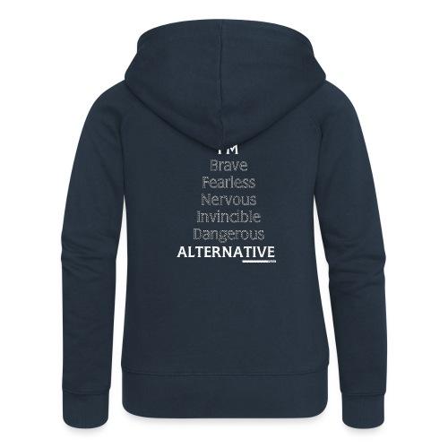 I'm Hoodie Black - Rozpinana bluza damska z kapturem Premium